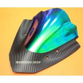 Windshield Yamaha Aerox rainbow Kevlar pattern.