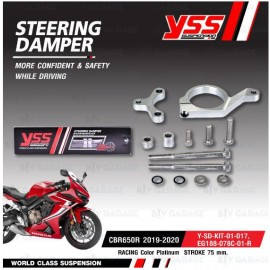YSS  STEERING DAMPER CLAMP SET  Racing for CBR650R 2019-2020 [EG188-078C-01-R , Y-SD-KIT-01-017]