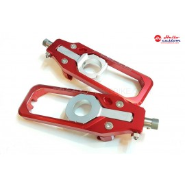 REAR CHAIN ADJUSTER LT RED FORBMW S1000RR