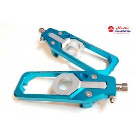 REAR CHAIN ADJUSTER  LT BLUE FORBMW S1000RR