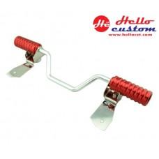 STAINLESS FOOT PLATE  GTR for HONDA ZOOMER-X RED